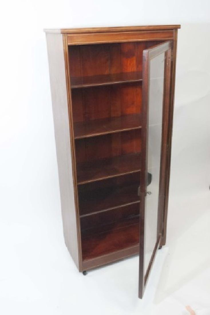 Wood Curio Cabinet with Glass Door & Key Latch - 2