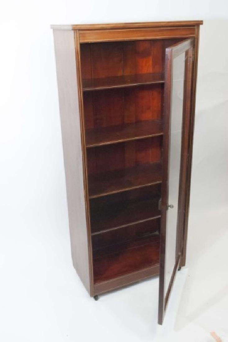 Wood Curio Cabinet with Glass Door & Key Latch - 3
