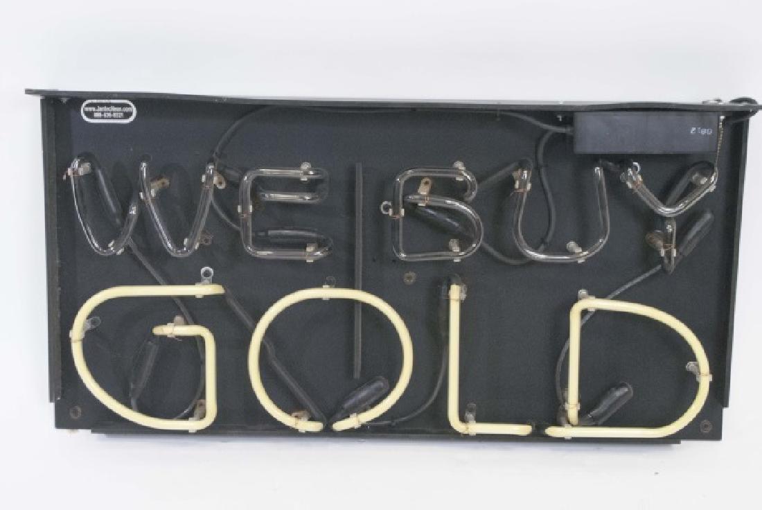 """We Buy Gold"" Light-Up Sign"