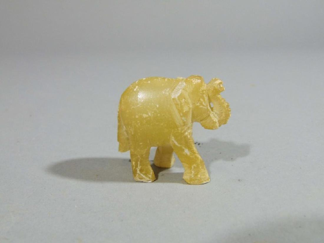 Collection of 16 Carved Elephants ~ Stone & Marble - 2