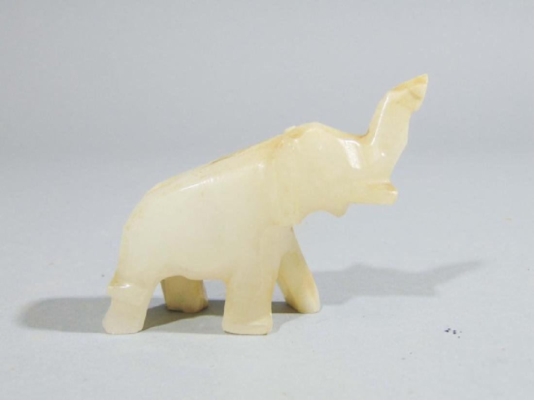 Collection of 16 Carved Elephants ~ Stone & Marble - 7