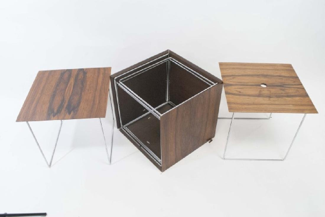MCM Cube Table - Tray Table Storage