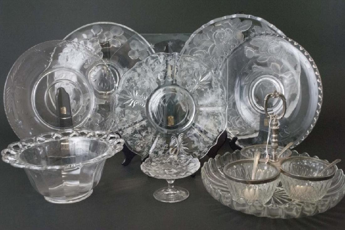Collection of 10 Crystal & Glass Serving Pieces - 3