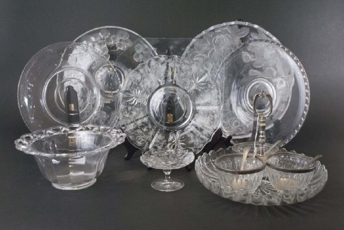 Collection of 10 Crystal & Glass Serving Pieces - 4