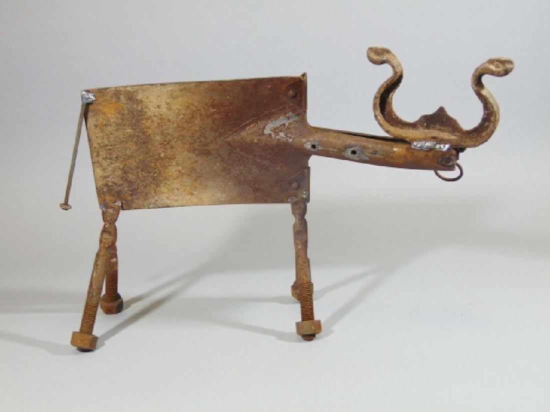 Creative Metal Bull Sculpture from Shovel & Bolts - 4