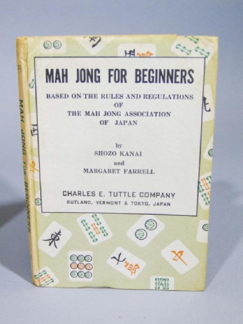 Vintage Mah Jong Wooden Game Set with Rule Book - 2