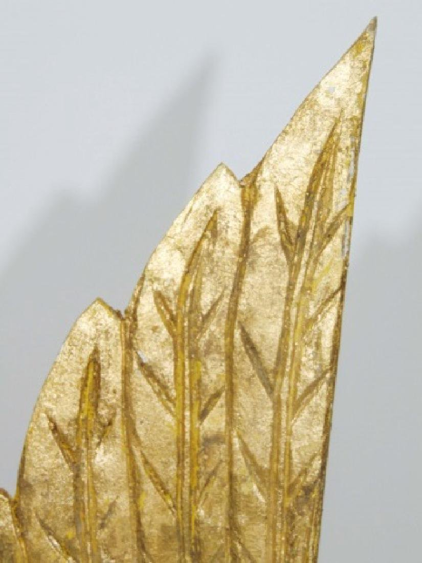 Pair of Ornamental Wooden Gold Wings - 2