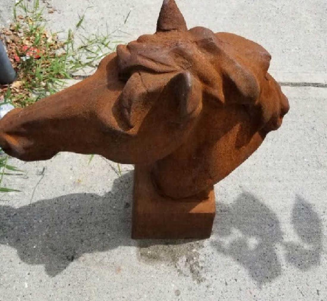 Ornamental Cast Iron Horse Head - 2