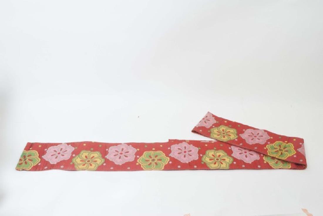 Japanese Silk Kimono & Colorful Fabric Banner - 2