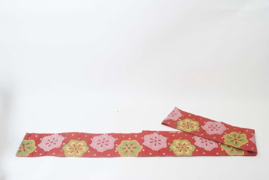 Japanese Silk Kimono & Colorful Fabric Banner - 5