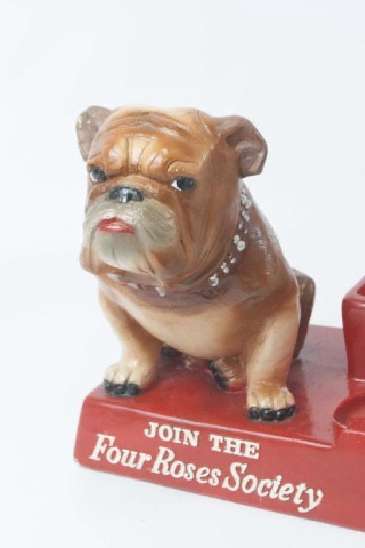 Vintage 4 Roses Back Bar Statue with Bulldog - 3