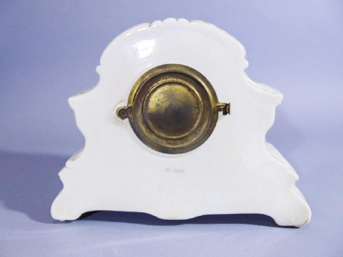 Ansonia Company Porcelain-Encased Mantle Clock - 3