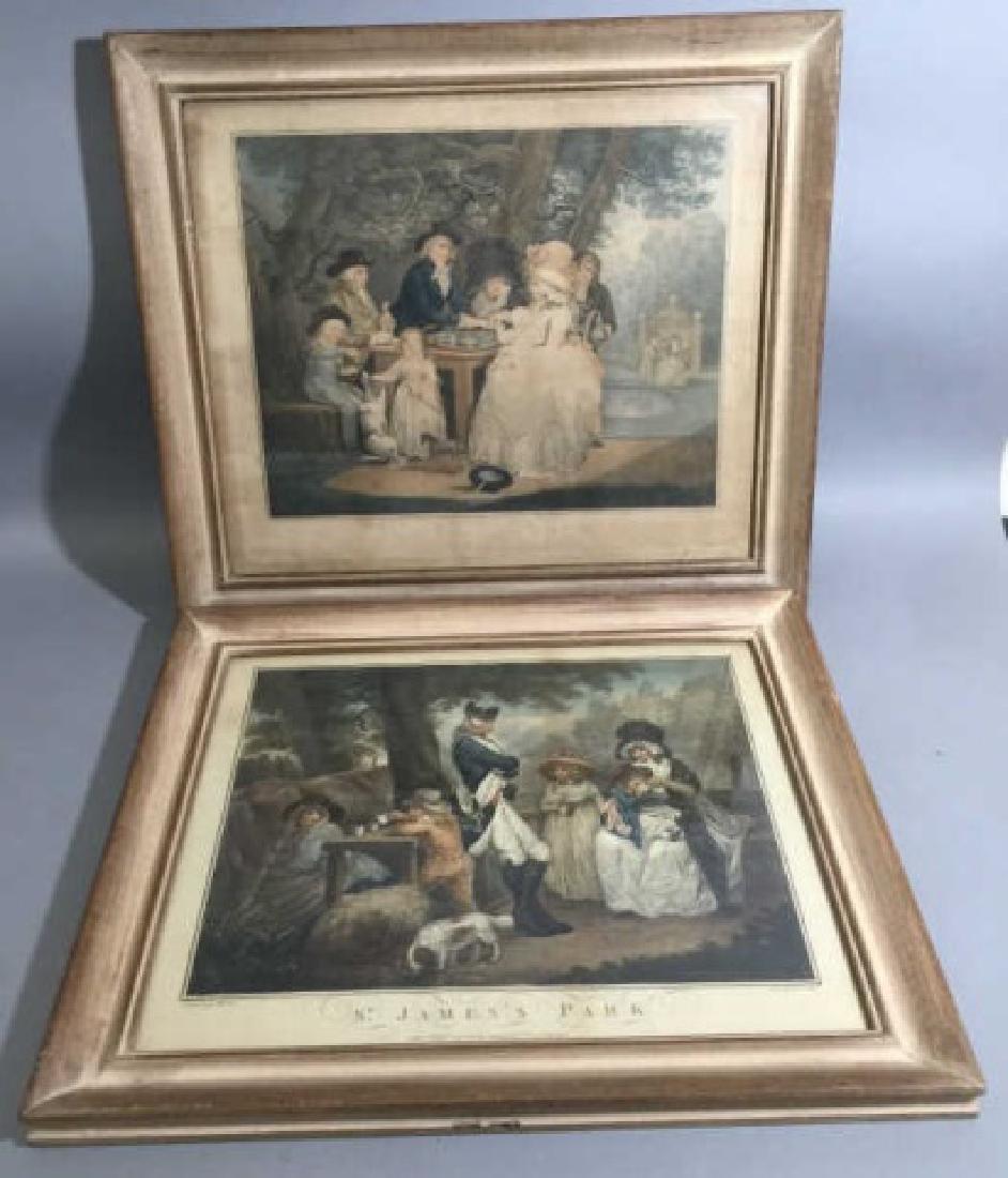Pair Antique 19th C English George Morland Prints