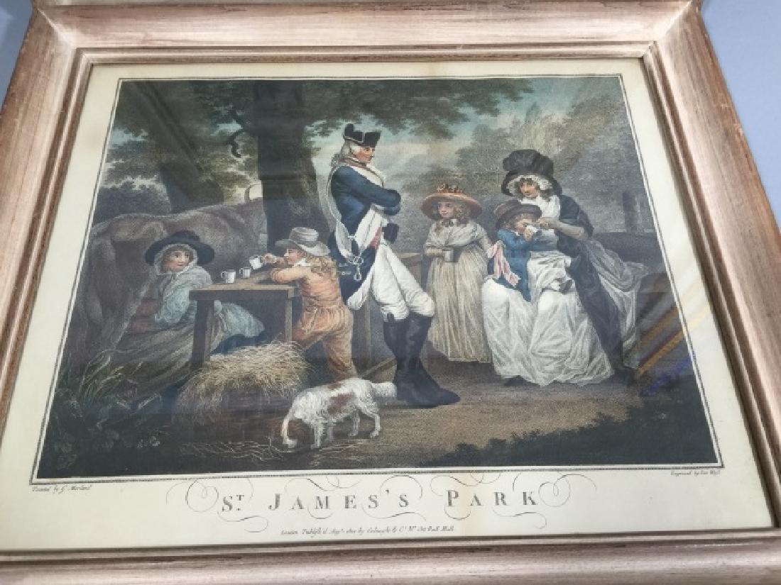 Pair Antique 19th C English George Morland Prints - 3
