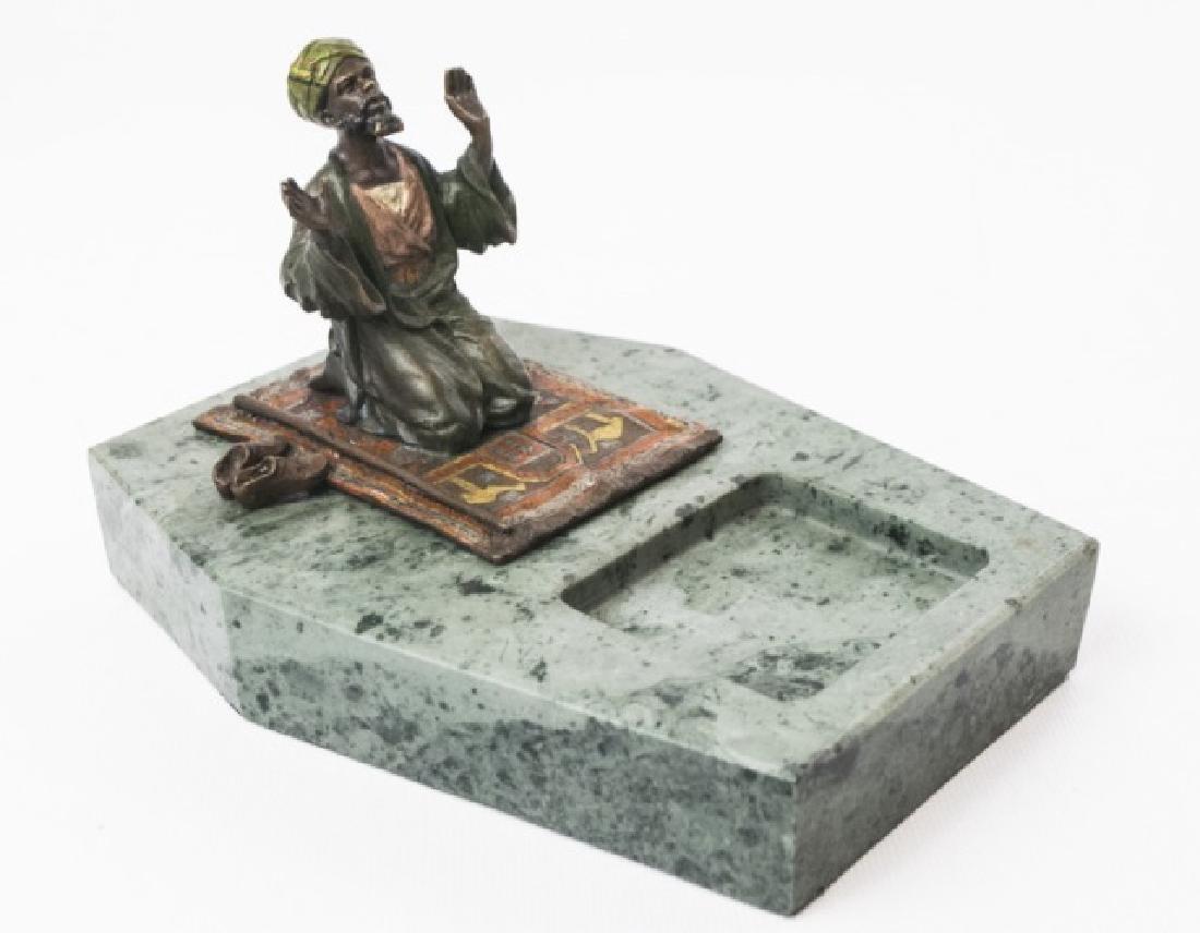 Vienna Bronze / Austrian Bronze Arab Man on Carpet