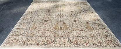 Quality Hand Knotted Wool / Silk Persian Carpet