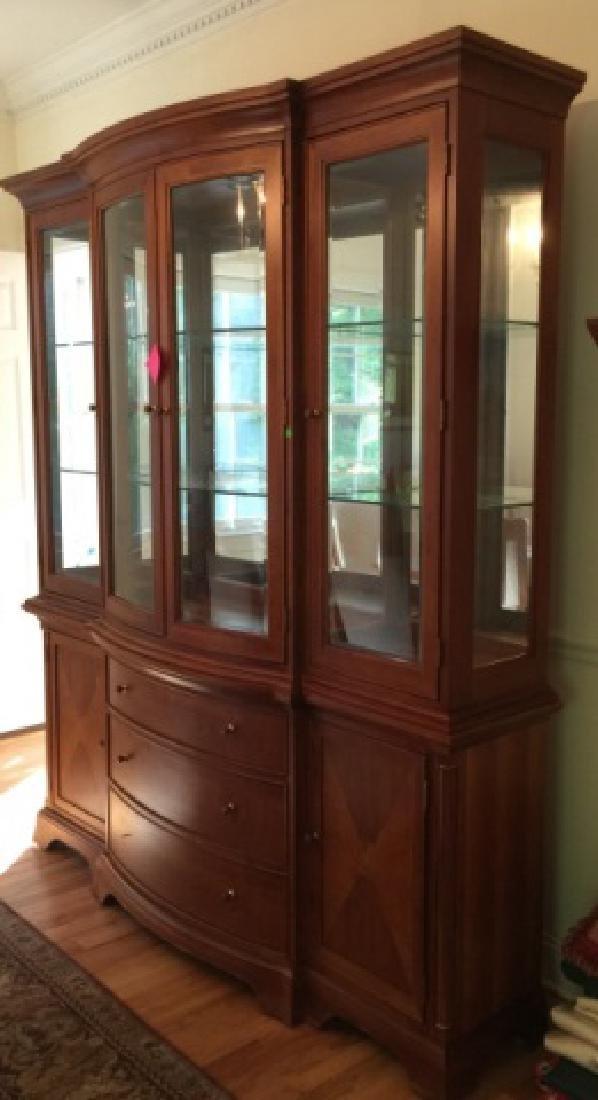 Oak Beveled Glass China Cabinet Ca. 1900