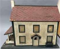 Folk Art Style Colonial Wooden Doll House or Model