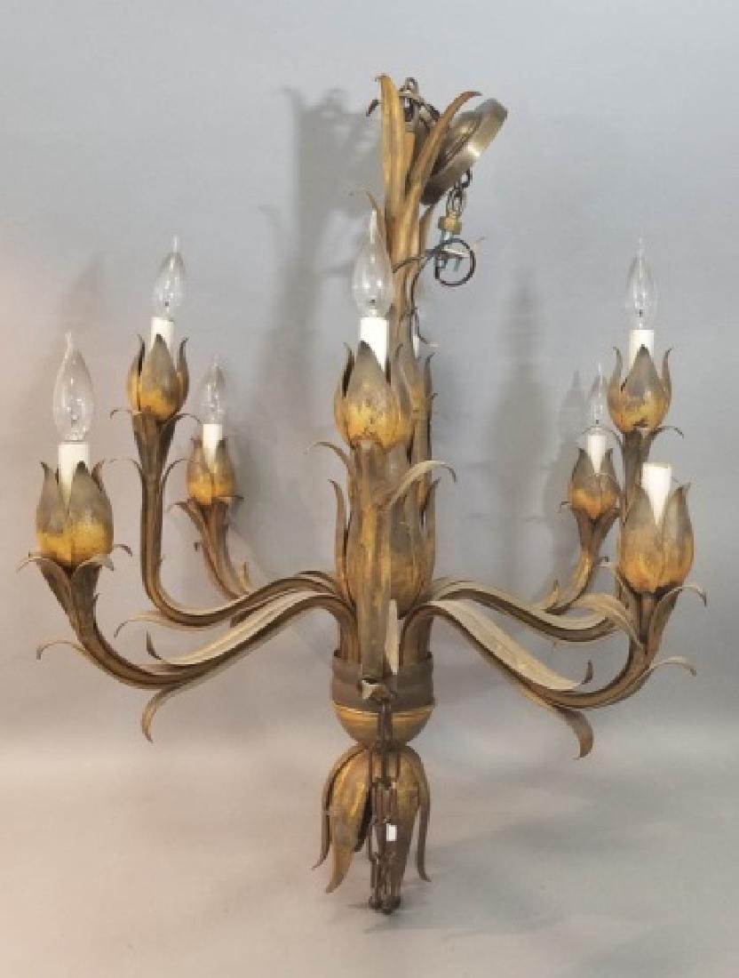 9 arm pressed metal leaf chandelier contemporary 9 arm pressed metal leaf chandelier arubaitofo Images