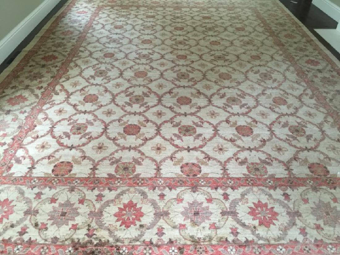 Jaipur Hand Knotted Silk Blend Oriental Carpet