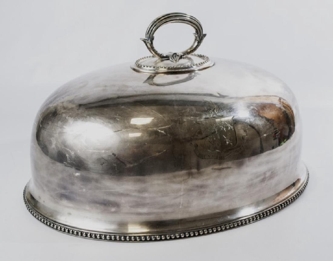 Antique 19th C Silver Dome w Osmaston Coat of Arms