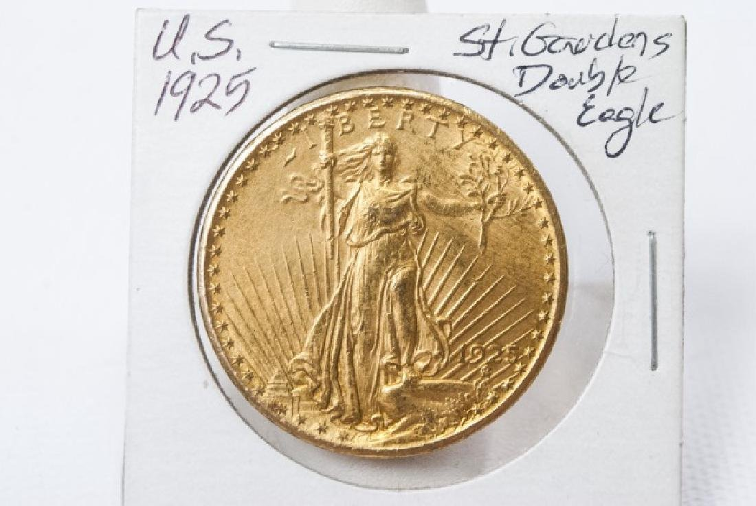 United States 1925 Gold Double Eagle $20 Coin