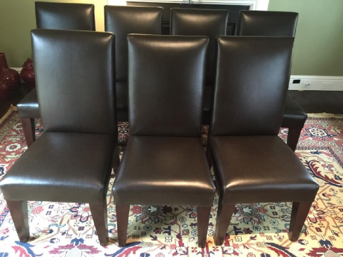 8 Contemporary Andre Joyce Leather Dining Chairs