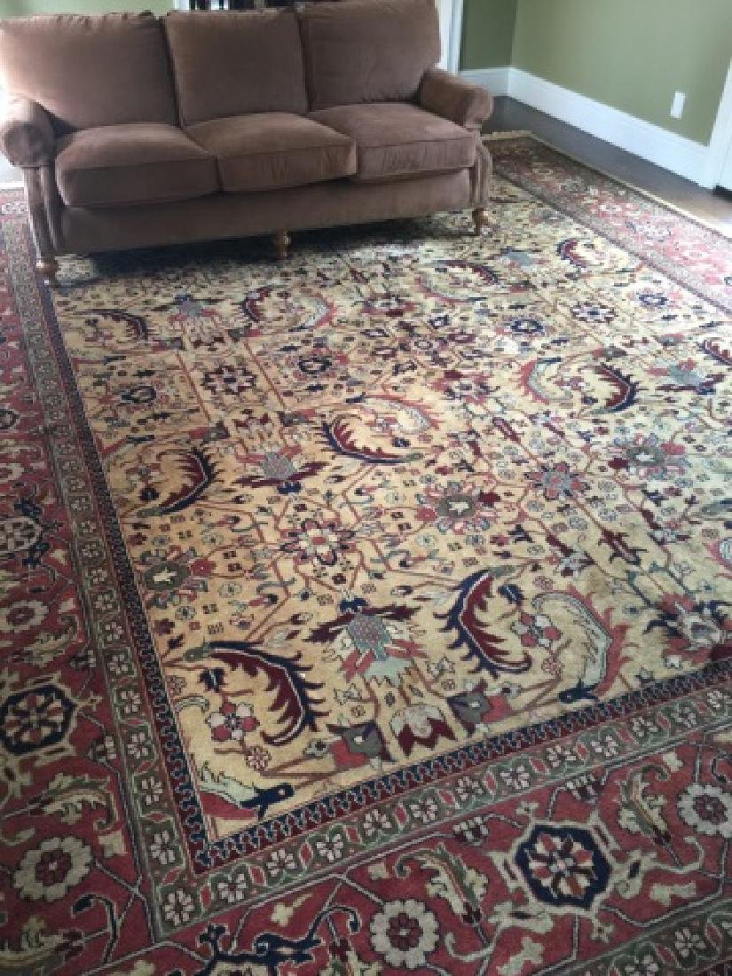 Large Knotted Wool Oriental / Persian Style Carpet