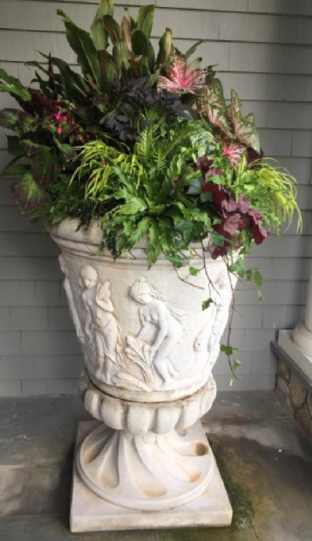 Monumental Cast Stone Neo Classical Garden Urn