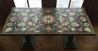 Custom Made Italian Pietra Dura Style Marble Table