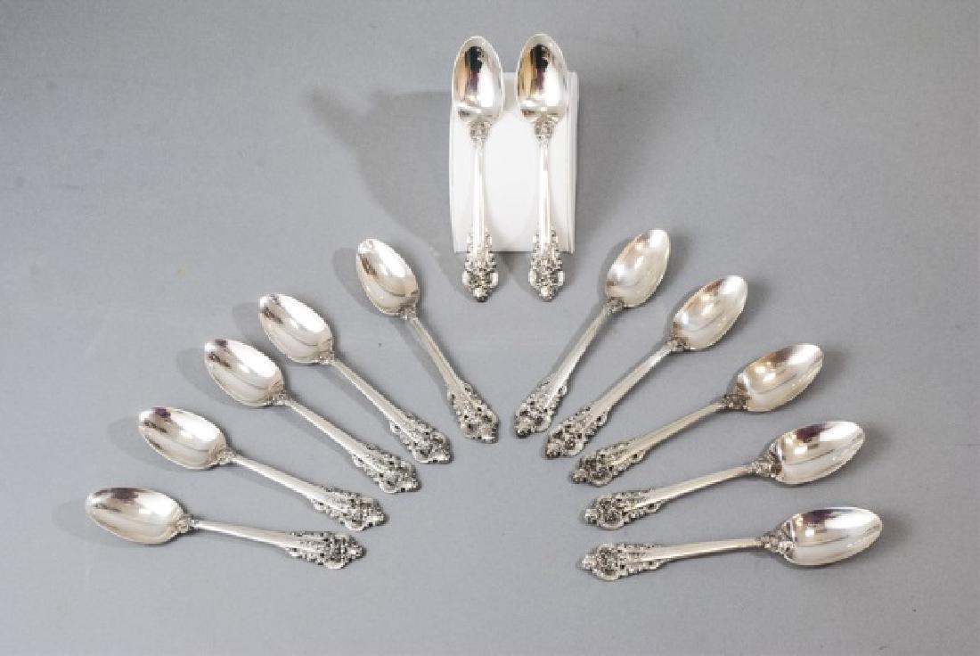 12 Wallace Sterling Silver Grande Baroque Spoons