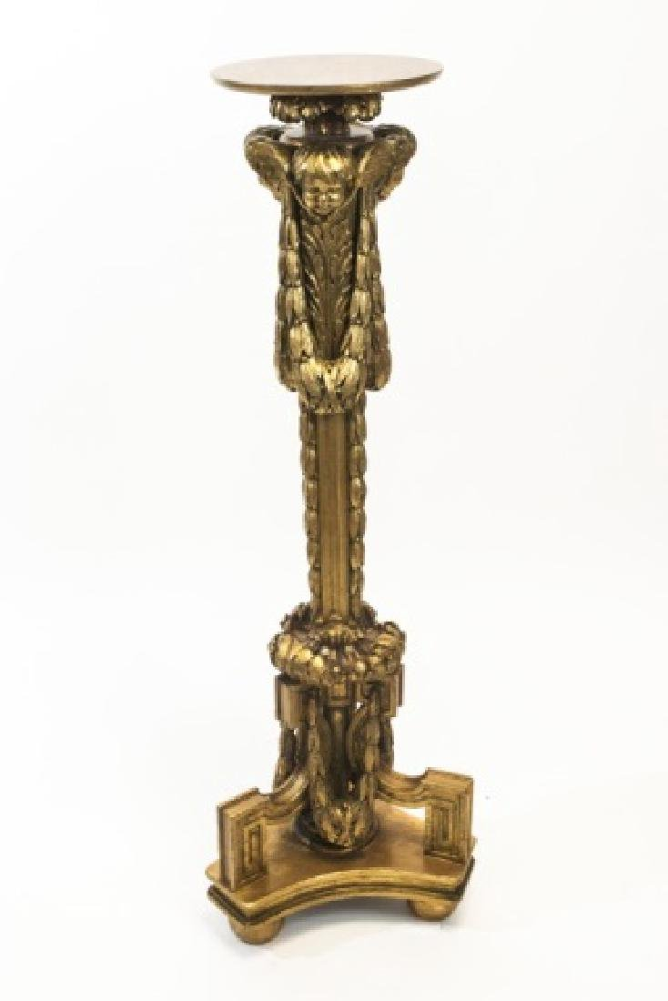 Italian Renaissance Style Hand Carved Pedestal