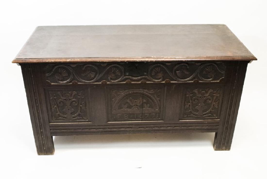 Antique English Tudor / Jacobean Style Chest