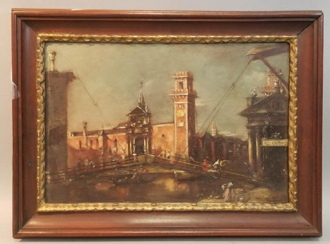 Old Master Venetian School Painting After F Guardi