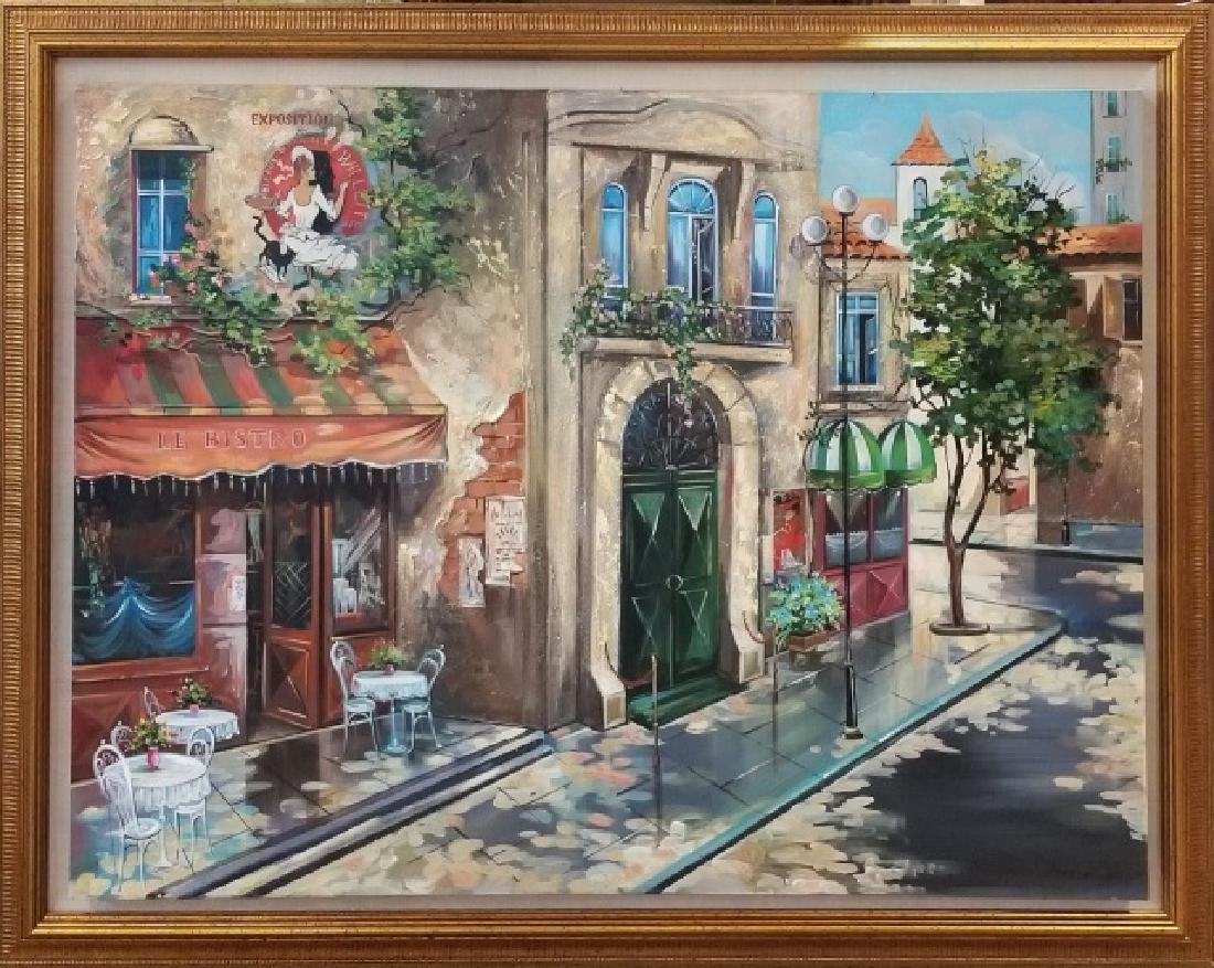 Mark St. John Signed Oil on Canvas - Doorway