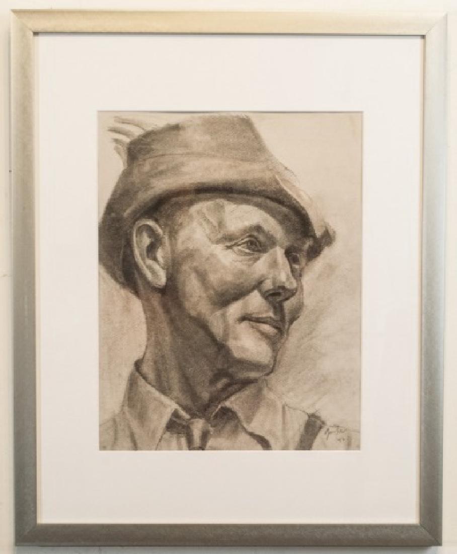 Robert Goodnough - Signed Original Self Portrait