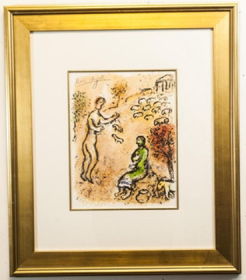 Hand Signed Chagall Lithograph, Tale of a Shepard