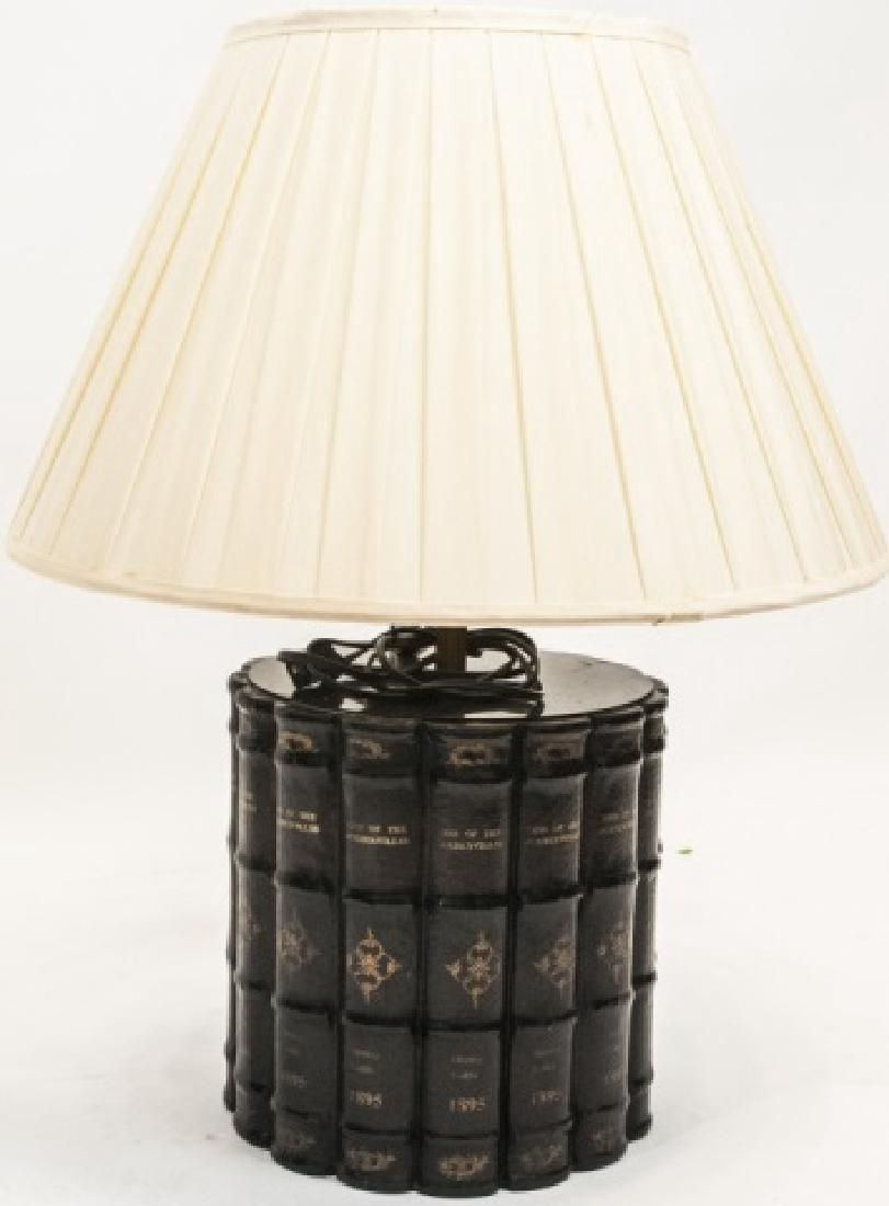 Designer Faux Leather Bound Book Table Lamp