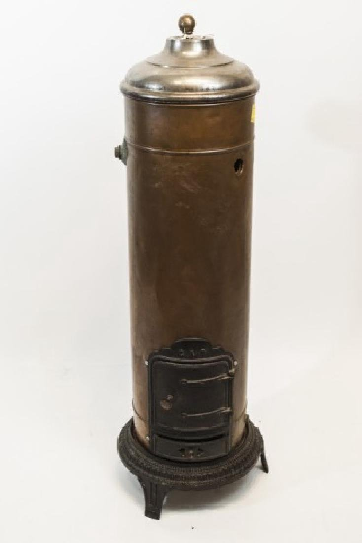 Antique French Copper & Cast Iron Heater