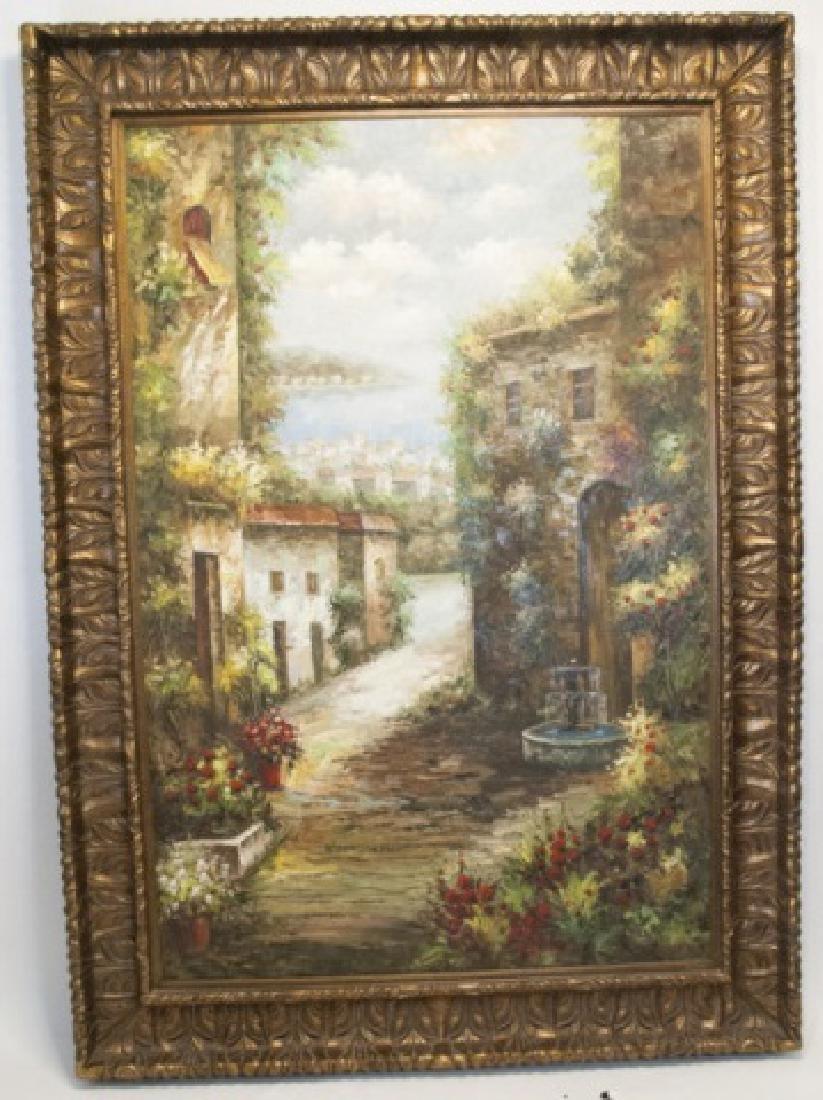 Monumental Italian Landscape Impasto Painting