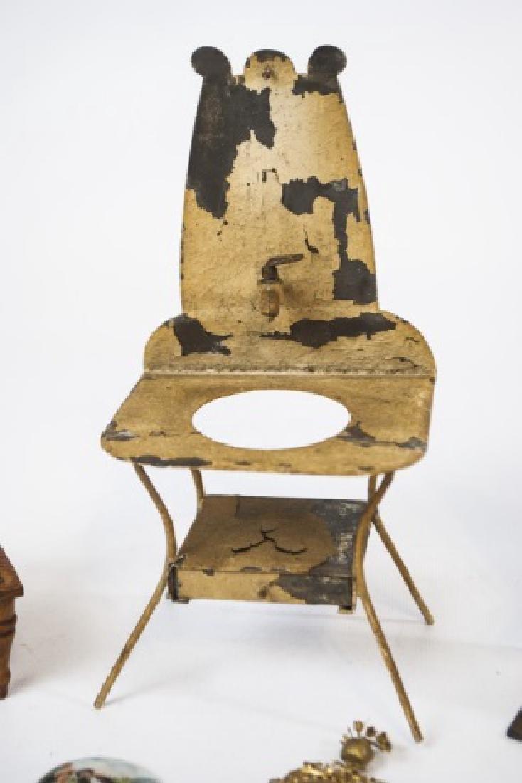 Antique Dollhouse / Doll Furniture & Accessories - 4
