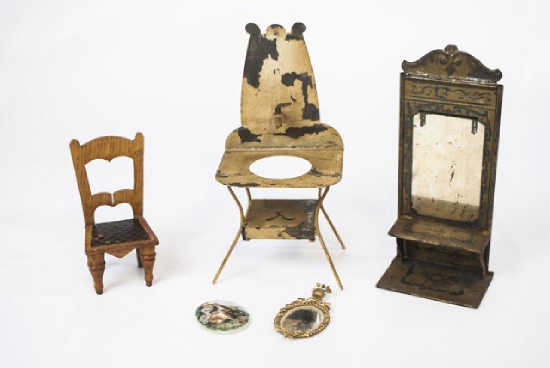 Antique Dollhouse / Doll Furniture & Accessories - 7