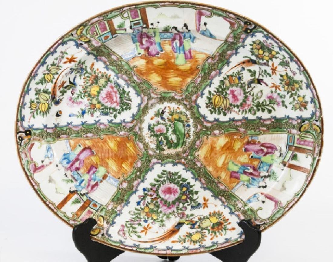 Large Antique 19th Chinese Porcelain Oval Platter