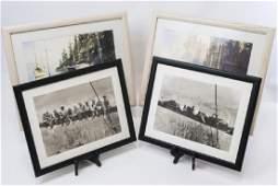 2 Pairs Framed Prints, NY Construction & Sailboats