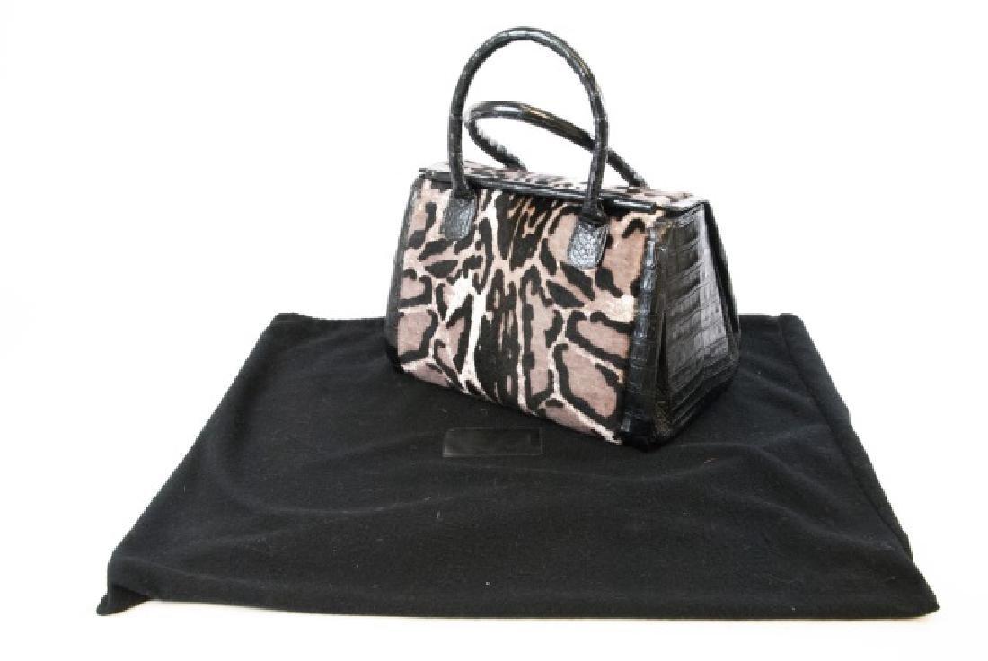 Nancy Gonzalez Crocodile & Pony Purse / Hand Bag