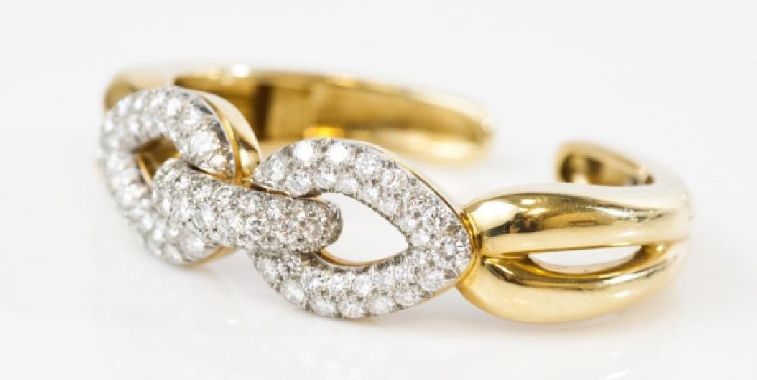 Impressive Platinum 18k Gold 7 Ct Diamond Bracelet