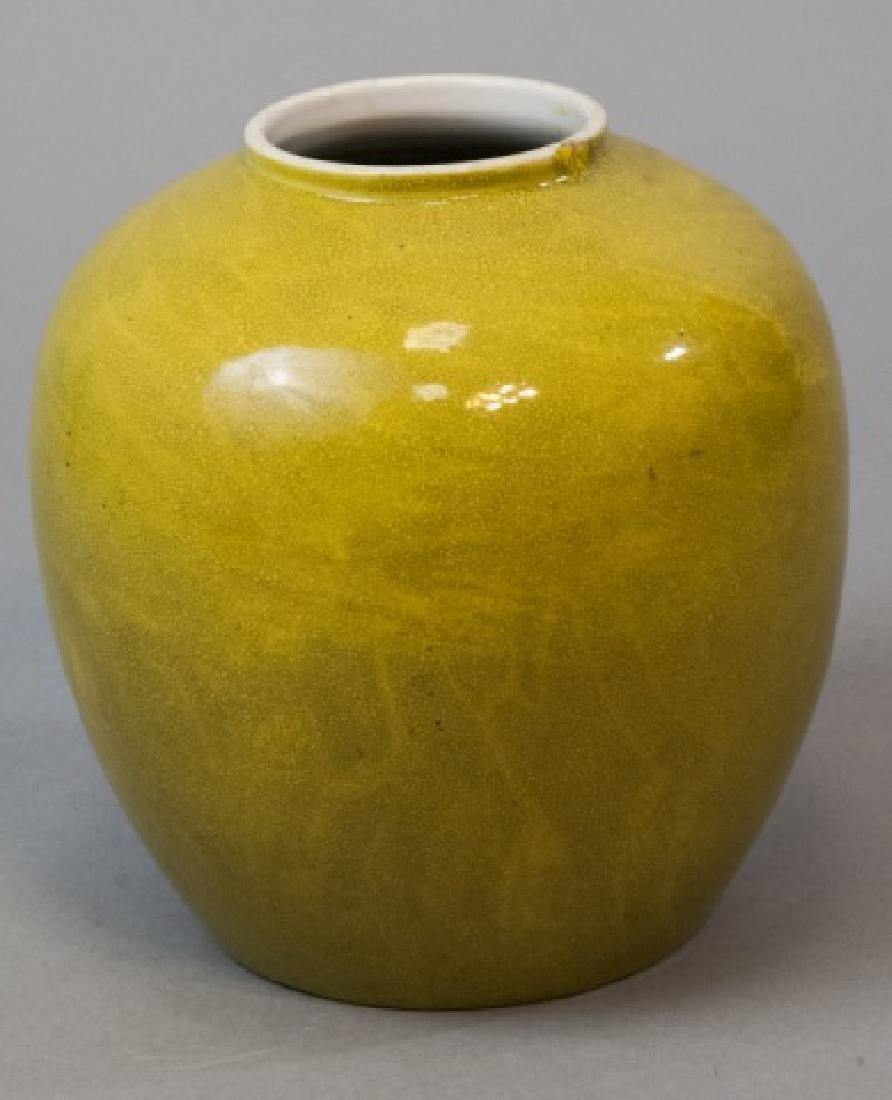 Chinese Crackleware Jar Form Porcelain Vase