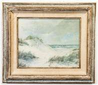 Dana Gibson Noble Signed Beach Scene Painting