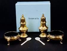 Tiffany  Co Vermeil Sterling Silver Salt  Pepper