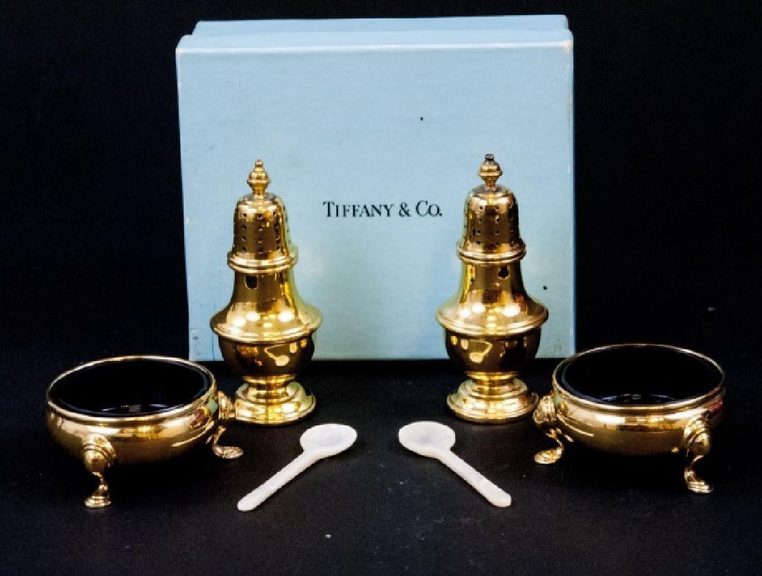 Tiffany & Co Vermeil Sterling Silver Salt & Pepper